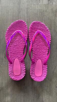 Pink Metallic Flip Flop