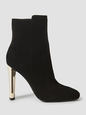 Kitty Suede Low Boot Black
