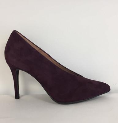 Marian - 3701 - Plum Suede Court Shoe