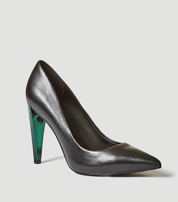 Obella Leather Court Shoes