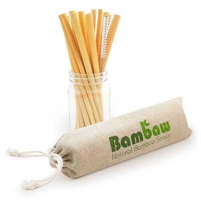 12 Stück Bambus Strohhalm Wiederverwendbar (14cm oder 22cm)