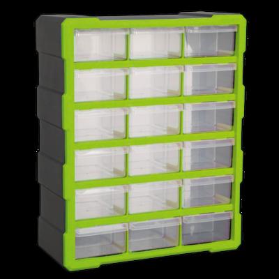 SEALEY CABINET BOX 18 DRAWER HI-VIS GREEN