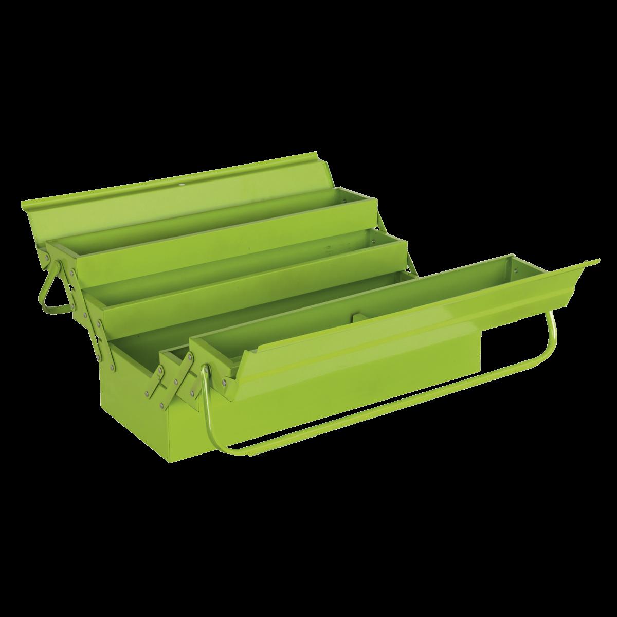SEALEY CANTILEVER TOOBOX 4 TRAY 530MM HI-VIS GREEN