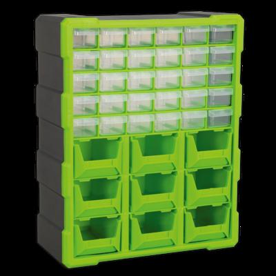 SEALEY CABINET BOX 39 DRAWER HI-VIS GREEN