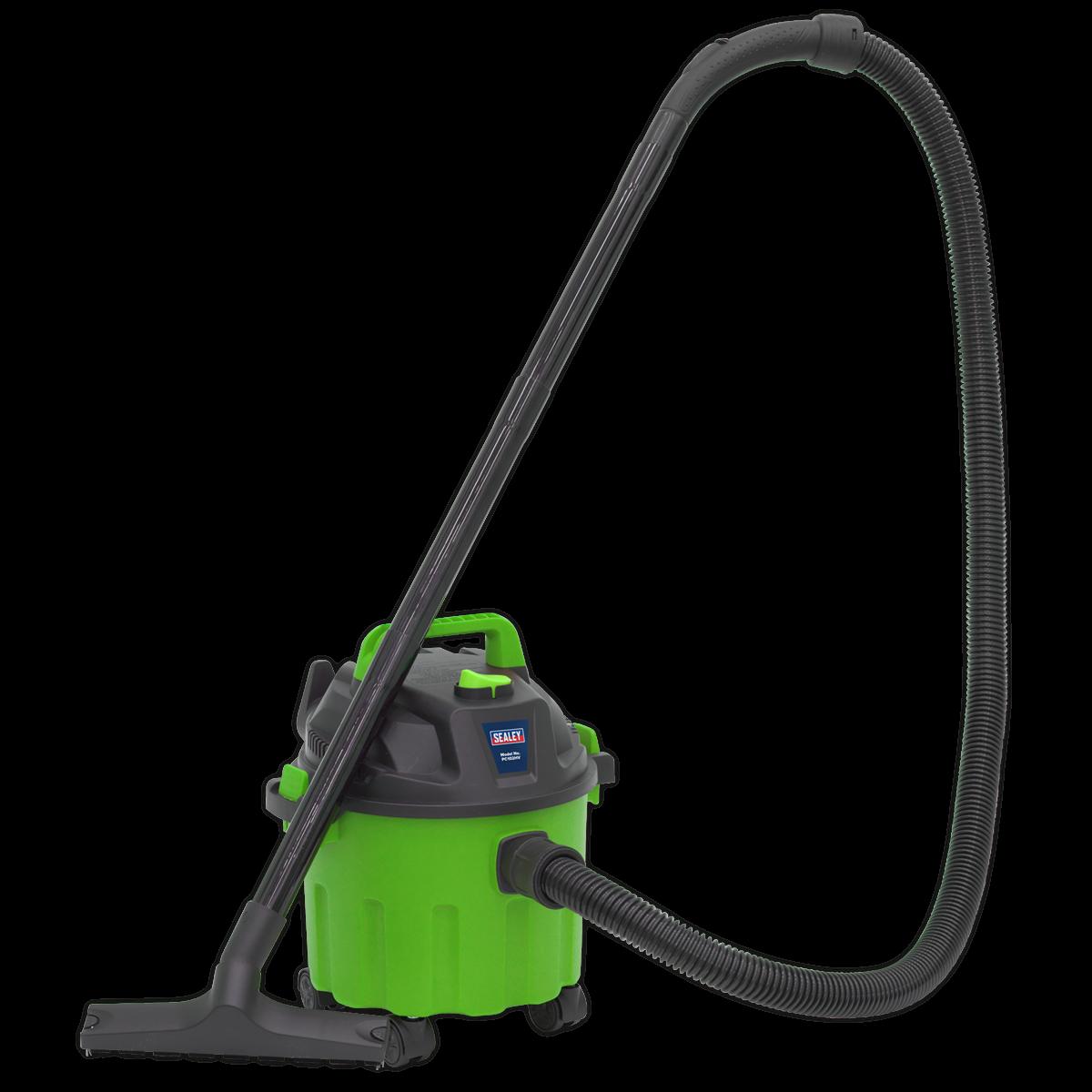 SEALEY VACUUM CLEANER WET/DRY 10L 1000W/230V - Hi-Vis Green