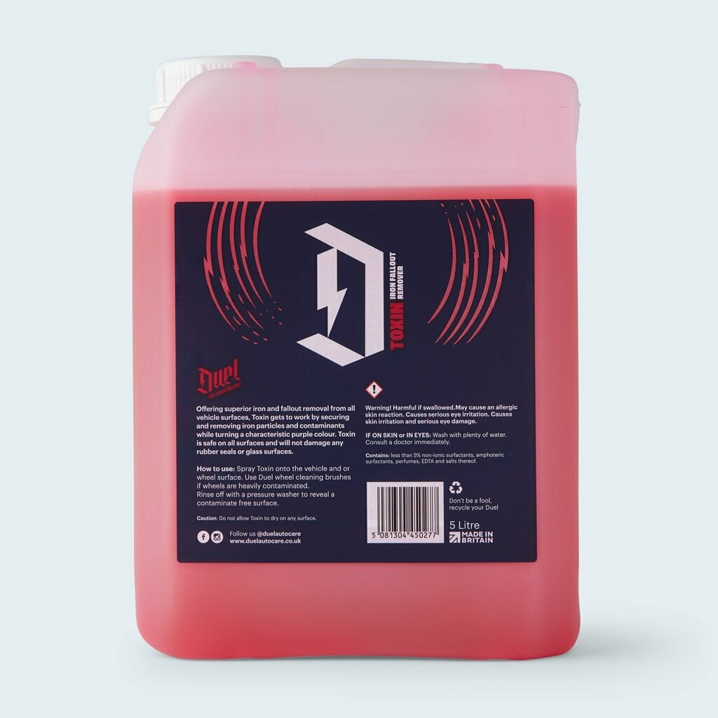 DUEL TOXIN IRON FALLOUT REMOVER 5LTR