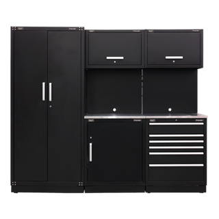 SEALEY MODULAR STORAGE SYSTEM COMBO - STAINLESS STEEL WORKSTOP - APMSCOMBO1SS
