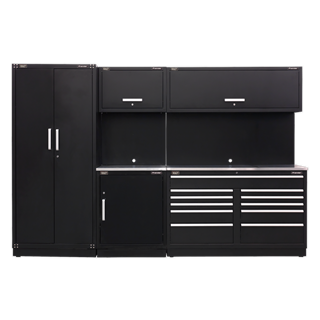 SEALEY MODULAR STORAGE SYSTEM COMBO - STAINLESS STEEL WORKSHOP - APMSCOMB02SS