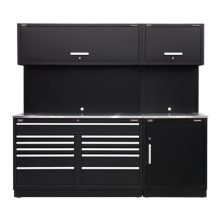 SEALEY MODULAR STORAGE SYSTEM COMBO - STAINLESS SYSTEM - STAINLESS STEEL WORKTOP - APMSCOMBO4SS
