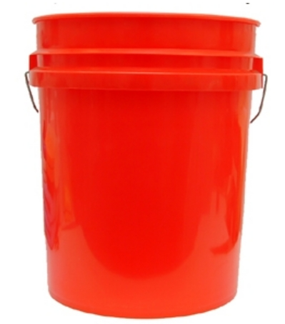 GRIT GUARD BUCKET 5 GALLON RED WHITE BLACK BLUE