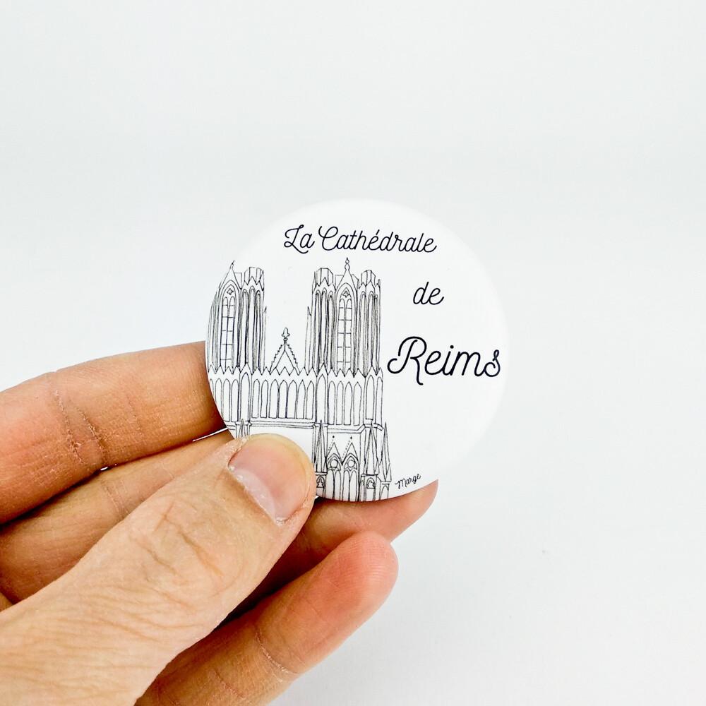 """Magnet décapsuleur : """"La Cathédrale de Reims"""""""