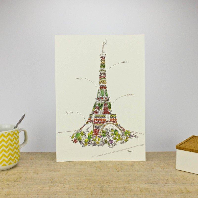 Tour Eiffel de légumes