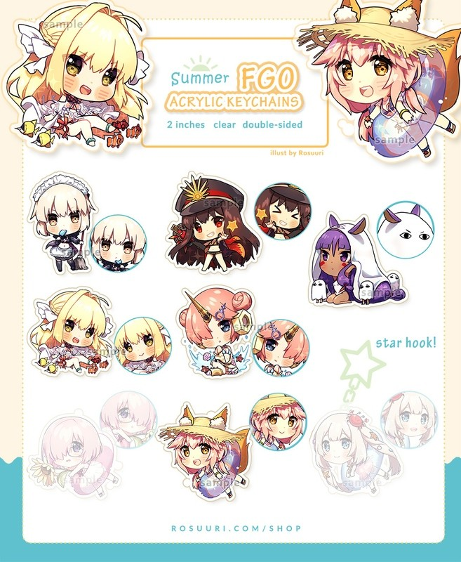 Fate/GO Summer Keychains