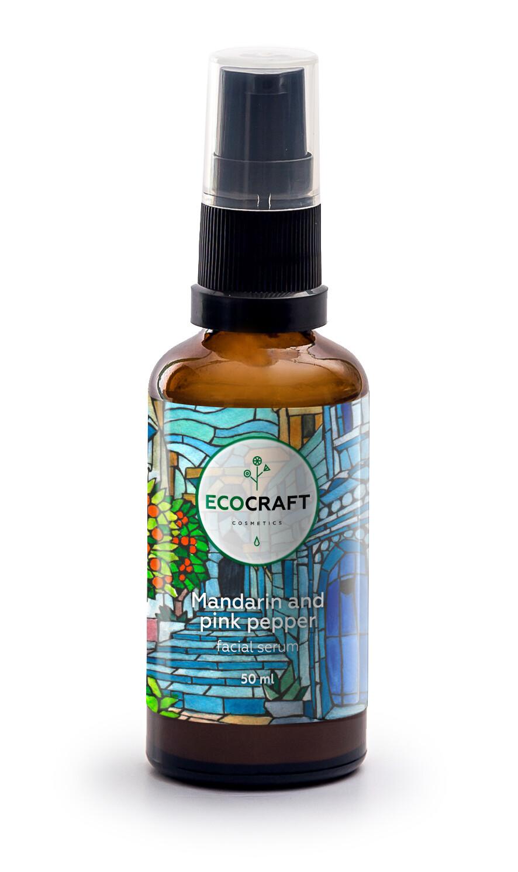 """Серум (сыворотка) для лица с лифтинг-эффектом с витаминами Е, С и гиалуроновой кислотой """"Мандарин и розовый перец"""" ECOCRAFT"""