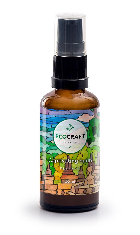 """Сыворотка (серум) для блеска и гладкости волос """"Пленительный уд"""" (несмываемая) ECOCRAFT"""