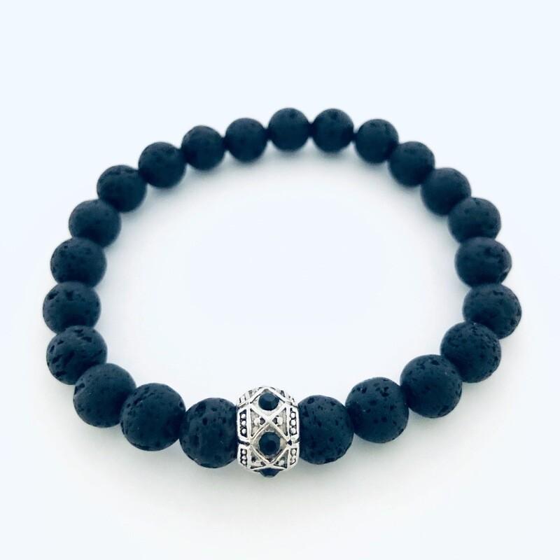 'Magma' Aspire Wellness Collection  Lava Stone Diffuser Bracelet.