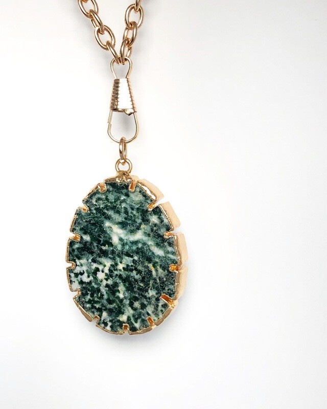 'Rock Your World' Collection  Green Jasper Necklace
