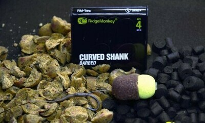 CURVED BARBED HOOK SIZE 4