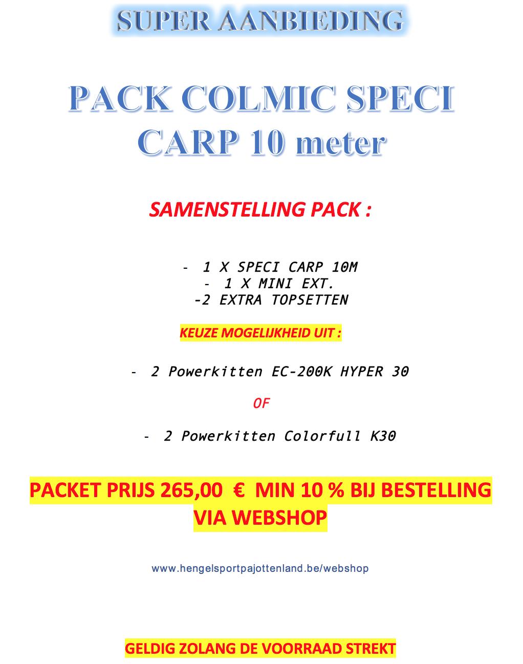 PACK COLMIC SPECIE CARP 10M