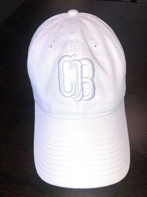White On White CB Hat Adj
