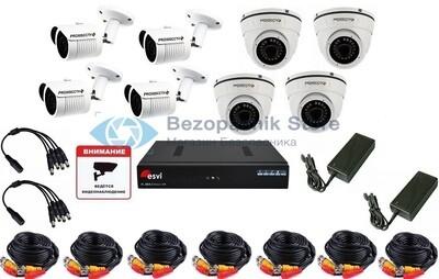 Готовый комплект уличного Full HD видеонаблюдения на 8 камер