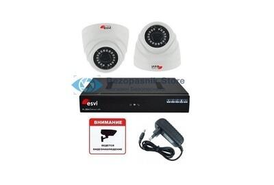 Готовый ip комплект Full HD видеонаблюдения на две камеры