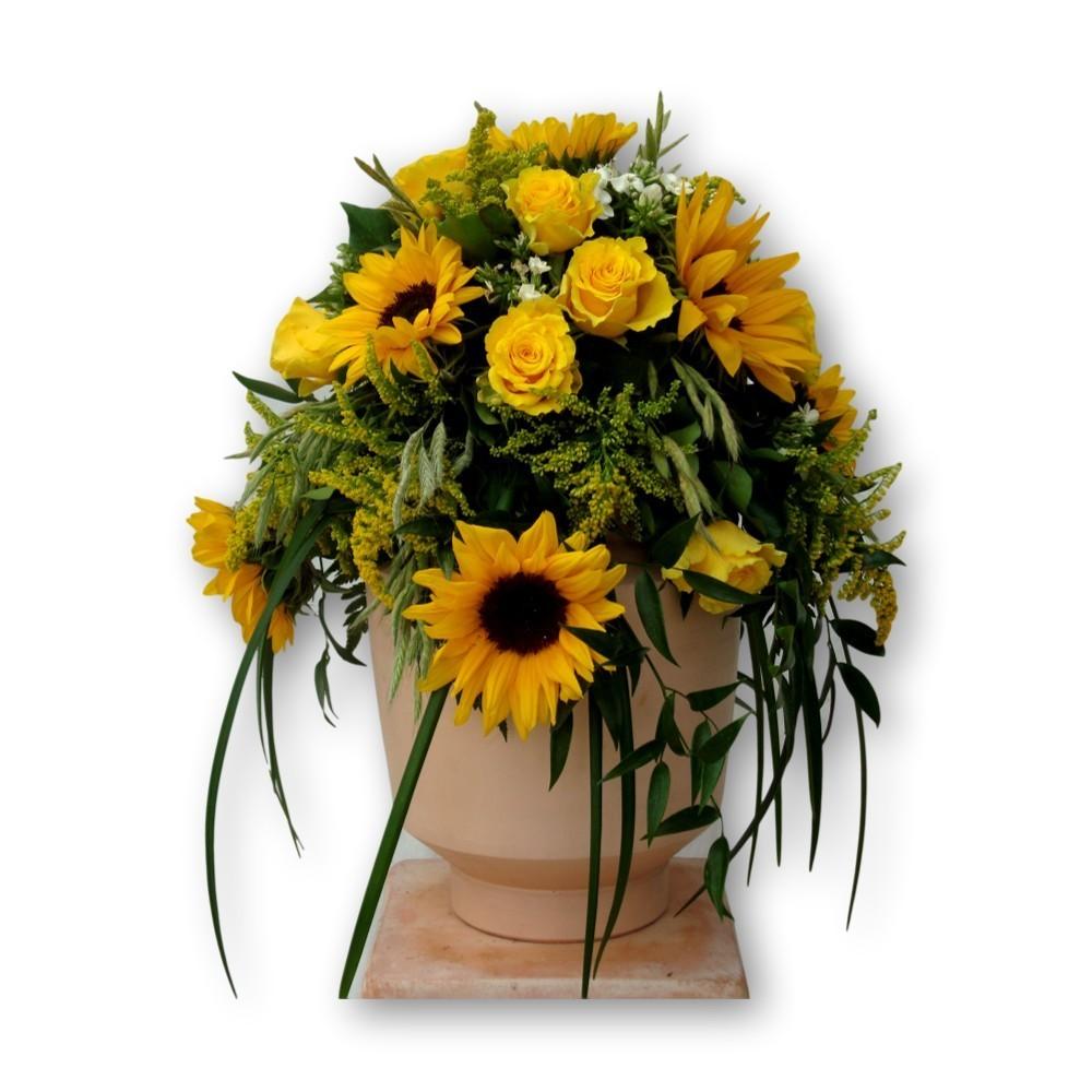 Urnenschmuck Sommer - mit Sommerblumen