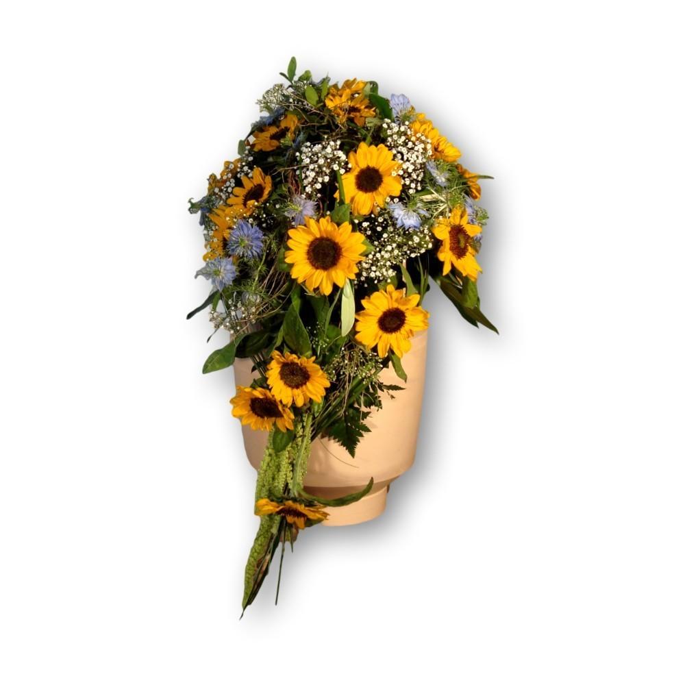 Urnenschmuck Sommer gelb