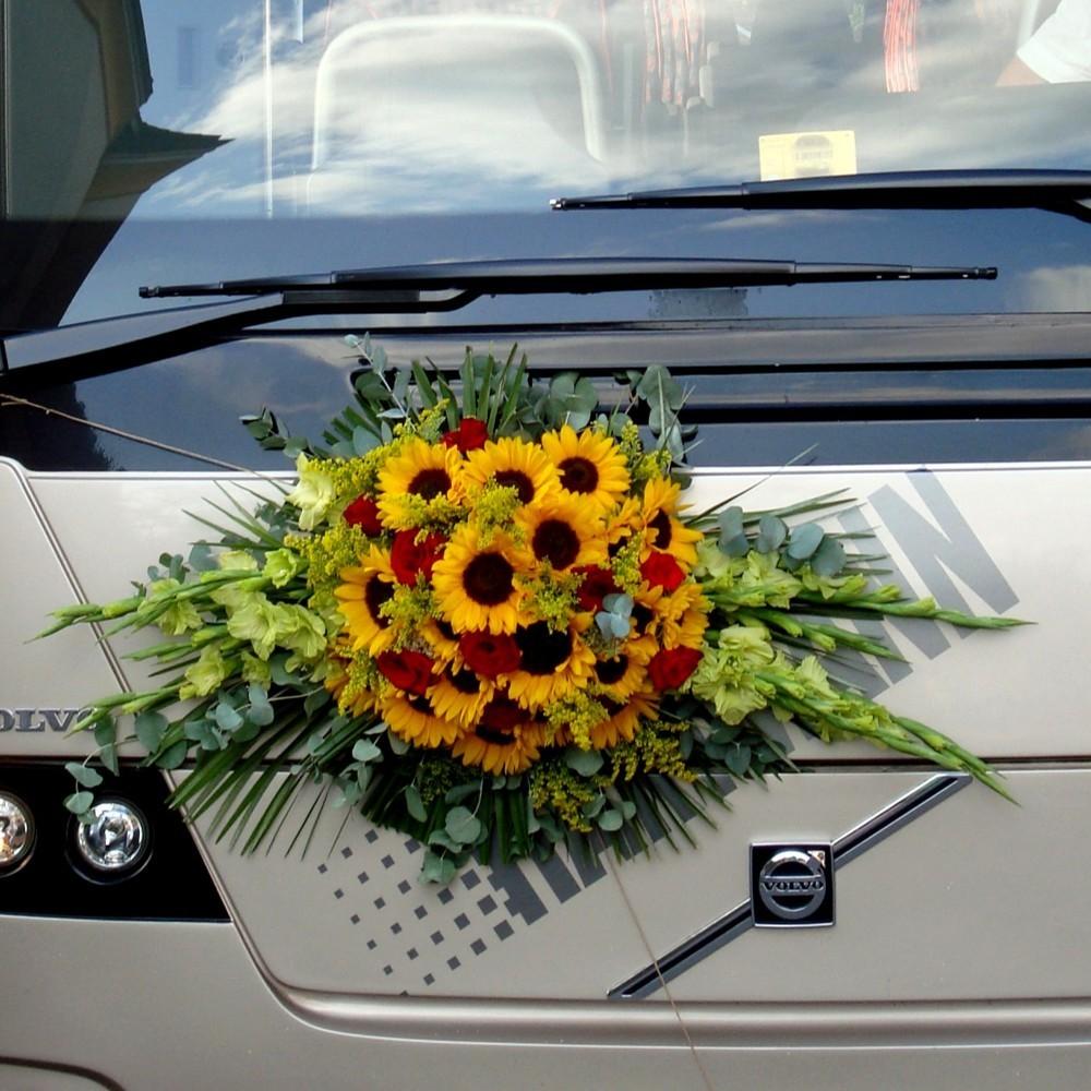 Autoschmuck länglich Sommerblumen