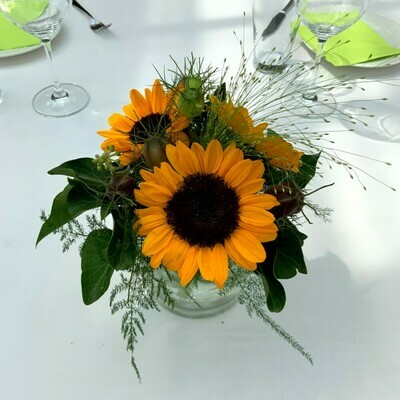 Tischdeko Sommerblumen Vase