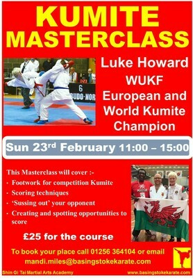 Kumite Course with Luke Howard Sensei