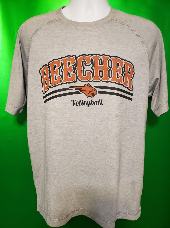 Beecher Volleyball Sport-Tek® PosiCharge® Tri-Blend Wicking Raglan Tee