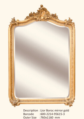 NWM95615-3 Lior Baroque Gold Mirror