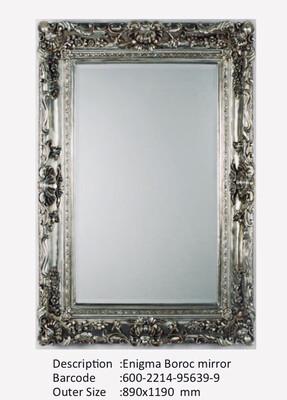 NWM95639-9 Enigma Baroque Silver Mirror