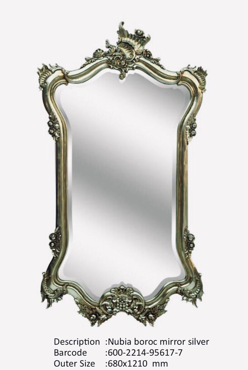 NWM95617-7 Nubia Baroque German Silver Mirror