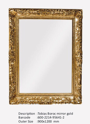 NWM95641-2 Tobias Baroque Gold Mirror