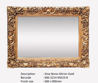 NWM95623-8 Sinai Baroque Gold Mirror
