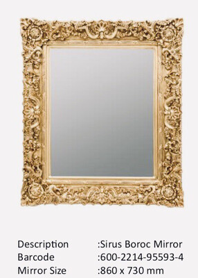 NWM95593-4 Sirus Baroque Gold Mirror
