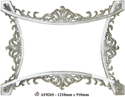 AF026 Silver detailed mirror