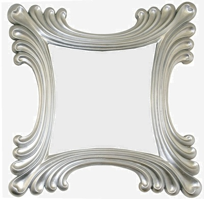 CFO51 Contemporary silver famed mirror