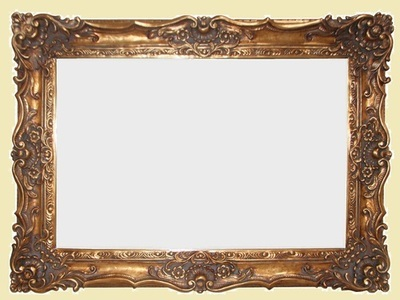 AF013 Ornate, classic, gold mirror