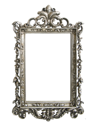 AF006S Silver, ornate classic mirror