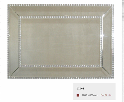 MC002 Mirror framed mirror with stud detail