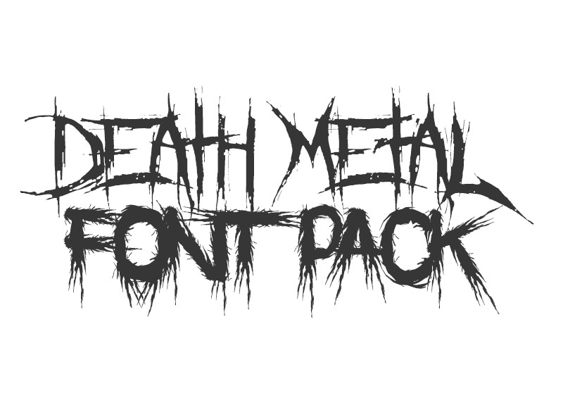 Death Metal Font Pack