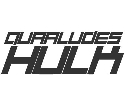 Font License for Quaalude Hulk