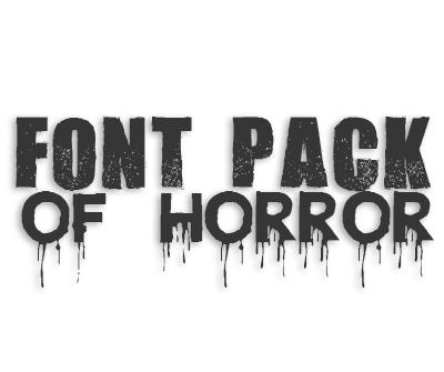 Horror Font Pack