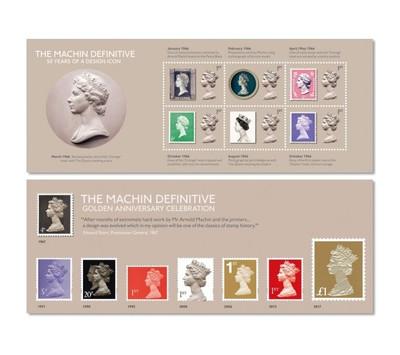Великобритания. 50-летие стандартных марок типа