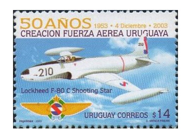Уругвай. 50 лет ВВС Уругвая. Марка