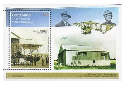 Уругвай. 100 лет со дня начала развития военной авиации в Уругвае. Почтовый блок