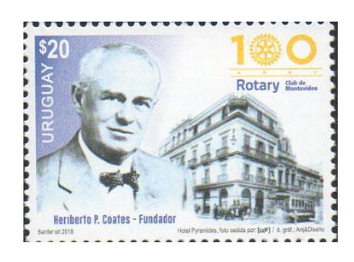 Уругвай. 100 лет Ротари Клубу Монтевидео. Марка